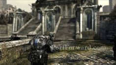 Gears of War Act 1 - Trial By Fire - PortForward.com, has pillars edging out like gargoyal