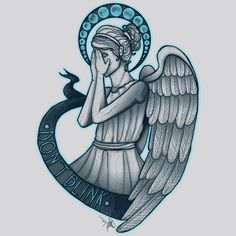 A Doctor Who weeping angel design by Mareve Design/Marie-Eve Frechette. Doctor Who Books, Doctor Who Poster, Doctor Who Craft, Doctor Who Gifts, Doctor Who 12, 12th Doctor, Dr Who Tattoo, Doctor Who Tattoos, Tribal Back Tattoos