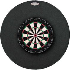 """Protect the walls in your entertainment space with this 36"""" Dart Stop Round Backboard. The plush fabric finish will keep the backboard attractive in design and hide any dart holes from sight. (Dartboard not included.) #darts #dannyveghs"""
