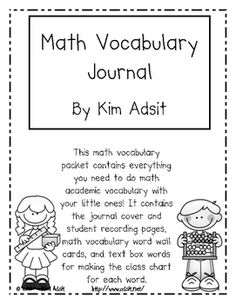 UPDATED with new pages! This math vocabulary packet contains everything you need to do math academic vocabulary with your little ones! It contains ...