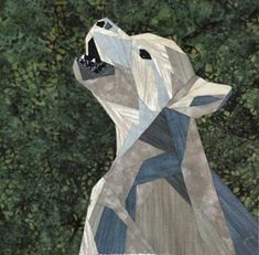 silver linings quilting pattern wee wolf pup