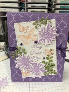 Postive Thoughts, Diy And Crafts, Paper Crafts, Stampin Up Catalog, Stamping Up Cards, Get Well Cards, Unique Cards, Sympathy Cards, Flower Cards