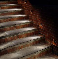 27 Attractive Outdoor Steps Lighting Designs - like the lights on the side rather than on the risers