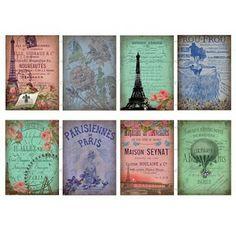 Paris vintage graphics, use for crafts, DIYs