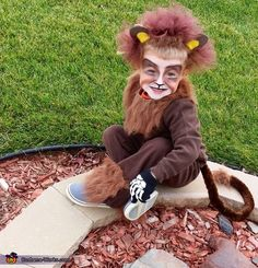 Jamie: My three year old son let Mommy make his costume this year. Fur, safety pins, tooling, hot glue, some foam and head band for the ears. Inexpensive brown outfit from...