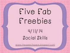 The Speech Space: Five Fab Freebies - Social Skills