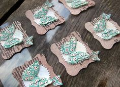 Layered Butterfly Embellishments