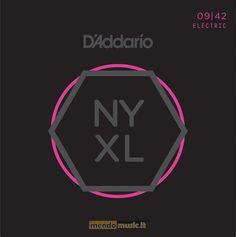 D'addario NYXL0942, nuova linea New york. Lega d'acciaio con una componente maggiore di carbonio e rivestimento in nickel studiato per enfatizzare le armoniche