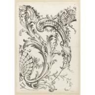Shell Cartouches and Acanthus Leaf Motif, Alexis Peyrotte, 1740