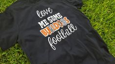 Team spirit shirt. Football mom  Customizable.  by FlamingoPinksApparel on Etsy