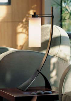 Hubbardton Forge Stasis and Impressions Table Lamp 272665-07-G75