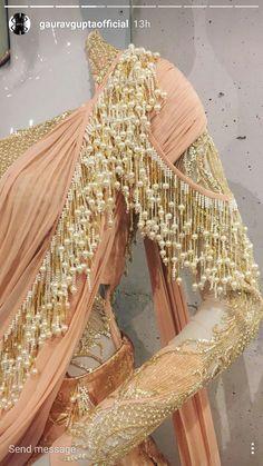 New & Trending blouse designs (Indian bride) - ArtsyCraftsyDad Pakistani Dresses, Indian Dresses, Indian Outfits, New Blouse Designs, Saree Blouse Designs, Saree Gown, Bollywood, Trendy Sarees, Saree Styles