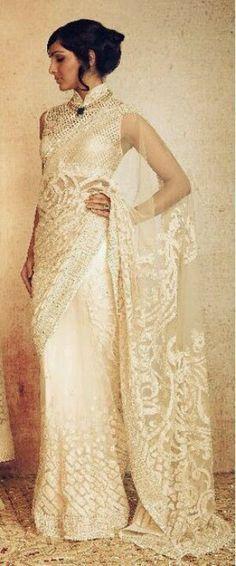 saree wedding dress - Google Search