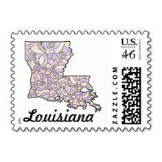 Louisiana Doodle Illustration Postage Stamp, featuring artwork I did!