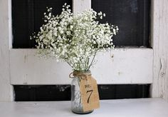 20 DIY Wedding Table Number Ideas | Confetti Daydreams - DIY Rustic Burlap Tag Table Numbers. Get our DIY Tips here! ♥  ♥  ♥ LIKE US ON FB: www.facebook.com/confettidaydreams  ♥  ♥  ♥ #Wedding #Decor