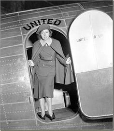 As the world's first airline stewardess, war heroine, and aviation pioneer Ellen   Church (above) created a new and exciting profession for young girls of the   twentieth century. While working as a registered nurse in San Francisco, Ellen   was employed by Boeing Air Transport (BAT), the predecessor to United airlines   in 1930.