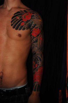 Japanese koi fish tattoo.