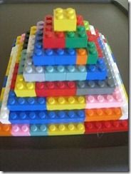 pyramid with legos! Use for Moses Bible story in Egypt