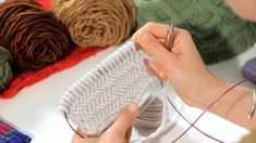 How to Do a Herringbone Stitch | Knitting