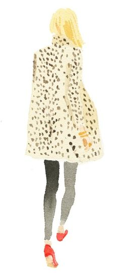 A leopard swing coat is a bold statement piece and pairs smashingly with leggings, jeans, a LBD, slacks, pencil skirt...Just no cargo capris!  ~ Leah Marie Brown
