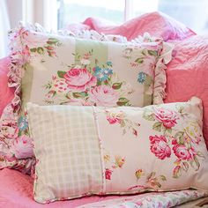 Sunshine Rose Ruffled & Lumbar Pillows from Tanya Whelan's Sunshine Rose