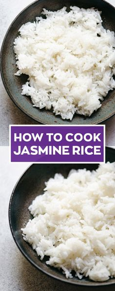 How to Cook Jasmine Rice Three Ways: Stovetop, Instant Pot &. - Ever wondered how to cook jasmine rice? Here is the guide on how to cook the perfect rice on the stovetop, in a slow cooker or Instant Pot. Jasmine Rice Recipes, Cooking Jasmine Rice, Cooking Rice, Rice In Crockpot, Crockpot Recipes, Rice In Rice Cooker, Rice Cooker Recipes, Perfect Jasmine Rice, Instant Pot