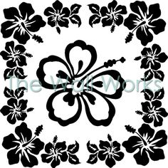 Kitchenaid Hawaiian Flowers Vinyl Decal | Car Decal | Kitchen Aid Mixer Decals | The Wall Works