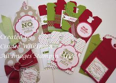 Just Sponge It Pop & Place Holiday Gift Tags Kit