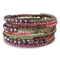 Wonderful Memory Wire - to think about for design #Beading #Jewelry #Tutorials