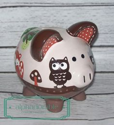 SMALL Foxy and Friends artisan hand painted by Alphadorable, $48.00