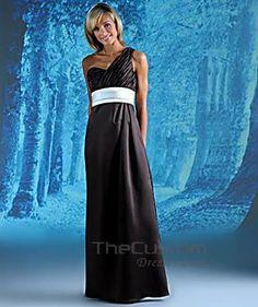 A-line Asymmetric Floor-length Satin Bridesmaid Dresses 10308861