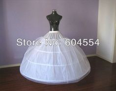 Free Shipping Top Quality In Stock White Bridal Accessories Wedding Dress Four Hoops One Layer Net A-Line Petticoat/crinoline
