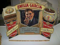 Old General Store Signs   LARGE VINTAGE GENERAL STORE DISPLAY SIGN EMILIA GARCIA 10 CENTS & UP ...