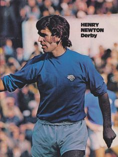 Henry Newton of Derby County in Image Foot, Derby County, Texaco, Champion, Football, 1970s, Goal, Sports, Football Images