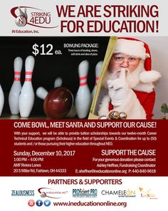 We were striking for education Dec,10 at Riviera Lanes, Fairlawn, OH.
