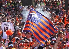 More than one million people took over downtown Denver on Tuesday to celebrate the Broncos' Super Bowl win.
