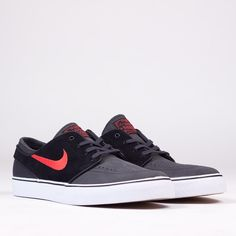 Nike SB Stefan Janoski Anthracite Red at COMMONN | Free UK Delivery