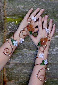 Custom Fairy Arm Cuffs Bridal Accessory by Frecklesfairychest, $50.00