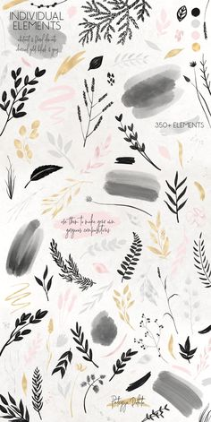 Charcoal, Gold & Blush Collection by Patrycja Dolata on Creative Market Instagram Grid, Instagram Design, Instagram Story, Cute Wallpapers, Wallpaper Backgrounds, Vector Pattern, Pattern Design, Art Graphique, Aesthetic Wallpapers