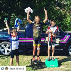 """""""Podium from today these bins were the podium""""  Way to go,  Theo!!!"""