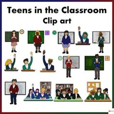 Make your educational resources come to life with our teens in the classroom clip art.Excellent to have for high school resources especially those who create… School Resources, Teacher Resources, Classroom Resources, Teaching Ideas, Classroom Ideas, Classroom Organization, Classroom Management, Classroom Displays, Classroom Clipart