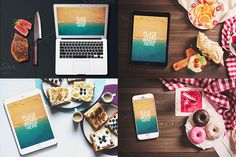 Devices And Food - Mockups by Mahmoud Wally on @creativemarket