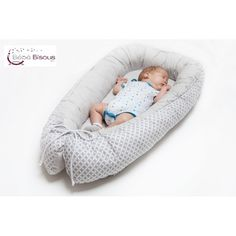 Découvrez notre nouveau lit bébé cocon gris et blanc. Il permet de dormir avec bébé en toute sécurité!