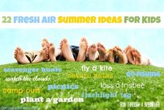 22 Fresh Air Summer Ideas For Kids - Denise In Bloom