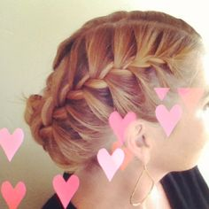 I french braided both sides and then tucked into a bun. Tip do this on unwashed hair :-)