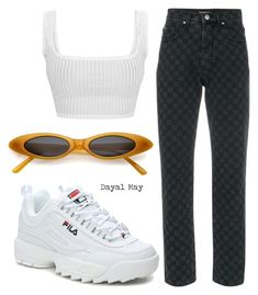 """""""Check That"""" by dayal-may ❤ liked on Polyvore featuring MISBHV and Fila"""