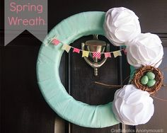 Craftaholics Anonymous® | Spring Wreath with Bunting