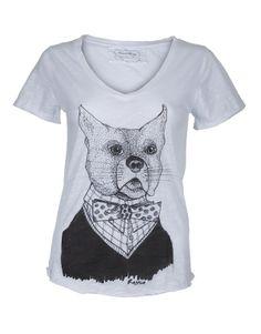 """""""Mr Dog"""" By Ragnia T-shirt Lily 100% coton flammé"""