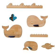Whale Bamboo Mobile by Petit Collage