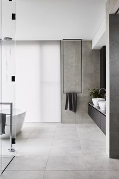 Light and bright in the master ensuite at Bathroom Remodel Cost, Bath Remodel, New Bathroom Ideas, Bathroom Inspiration, Laundry In Bathroom, Small Bathroom, Contemporary Toilets, Bad Inspiration, Beautiful Bathrooms